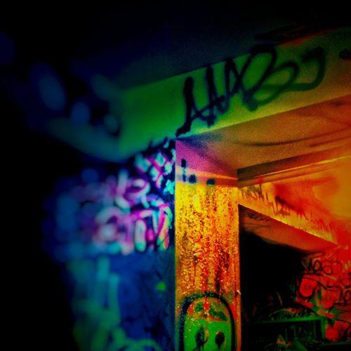 Graffitti Bold Textile Still Life No People Contrast Selective Focus Depth Of Field Dark Underground Color Underground Landscape Underground Shape Lines Structure Alternative Art Graffiti Art Graf Graffiti Complimentary Color Altart