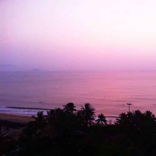 Sea Sunrise Landscape Pink