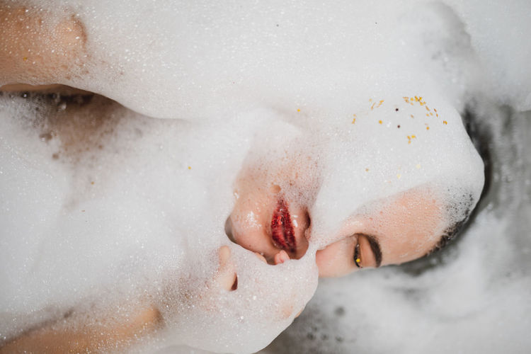 Soap Sud Domestic Room Bathroom Bubble Bath Hygiene Bathtub Taking A Bath Home One Person Domestic Bathroom Washing Bubble Indoors  Water Human Body Part Cleaning Headshot Wet Beautiful Woman My Best Photo 17.62° International Women's Day 2019