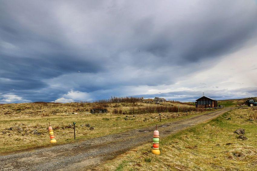 Cloud - Sky Rural Scene Landscape Sky Outdoors Nature Suðurnes Reykjanes Hvalsnes Summertime Beauty In Nature