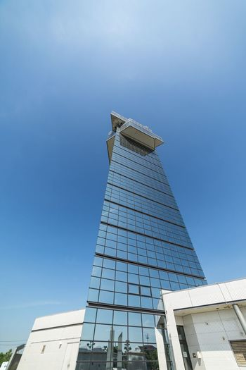Architecture Built Structure Building Exterior Low Angle View Sky Clear Sky Tall - High Copy Space Travel Destinations Modern City Skyscraper Office Building Exterior No People Building Nature Blue Tower Day Travel
