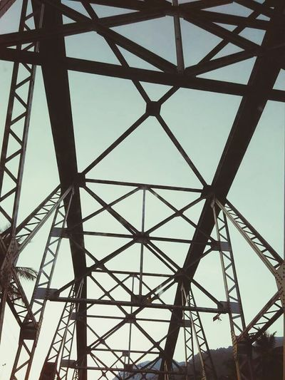 Built Structure Pattern Sky Metal Bridge - Man Made Structure Low Angle View History Travel Destinations Day Architecture Connection Girder Outdoors Adventure Close-up Astronomy Business Finance And Industry
