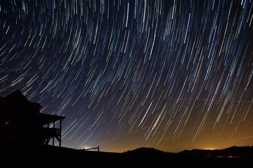 """""""I love the stars too fondly to be fearful of the night"""" Star Trails Nikon Open Shutter Boone NC Mountains Night Adventure Check This Out Night Photography"""