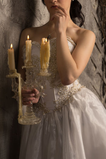 Bride Close-up Day Indoors  One Person People Real People Standing Wedding Dress Young Adult Young Women