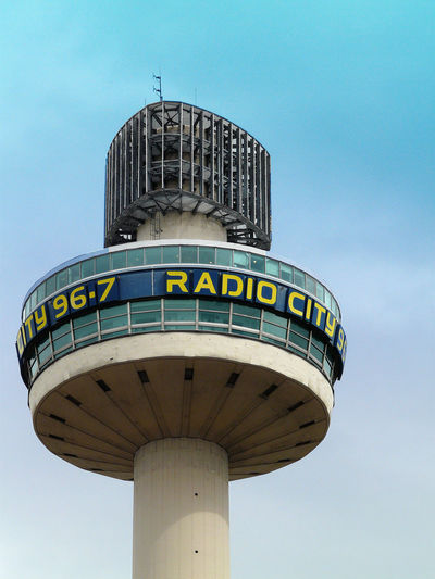 A Taste Of Liverpool Liverpool England Radio City, Liverpool Architecture Blue Building Exterior Built Structure Clear Sky Communication Day Low Angle View No People Outdoors Sky Text