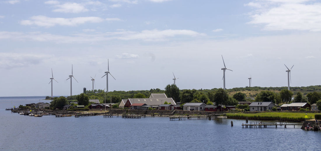 Landskrona docks Cloud - Sky Docks Dockside Island Sky Water Waterfront Windturbines