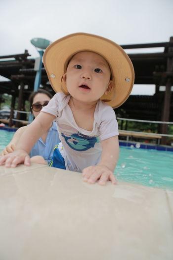 Jeju JEJU ISLAND Smiling Baby Cute Water Pool