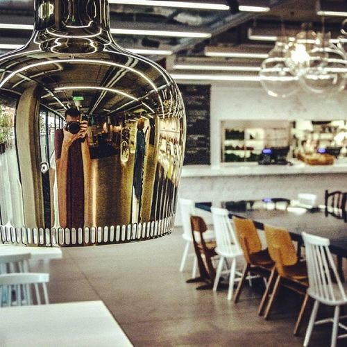 Architecture The Illusionist - 2014 EyeEm Awards A Frame Within A Frame Design furniture chairs lamp gold restaurant pixel jadalnia eames midcentury jems ultraarchitects poznan Poznań