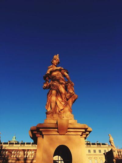 Schloss Rastatt EyeEm Selects Statue Sculpture Architecture Blue Built Structure Clear Sky