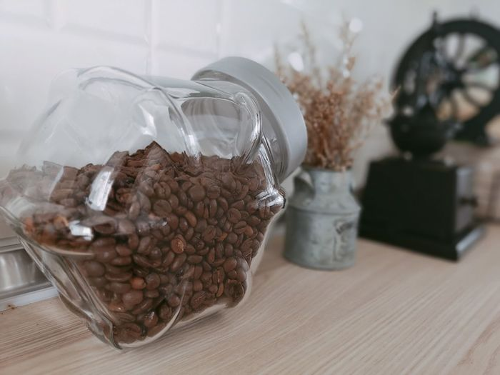 Jar Container Close-up Food And Drink Ground Coffee Roasted Coffee Bean Raw Coffee Bean Espresso Maker Coffee Maker Coffee Bean