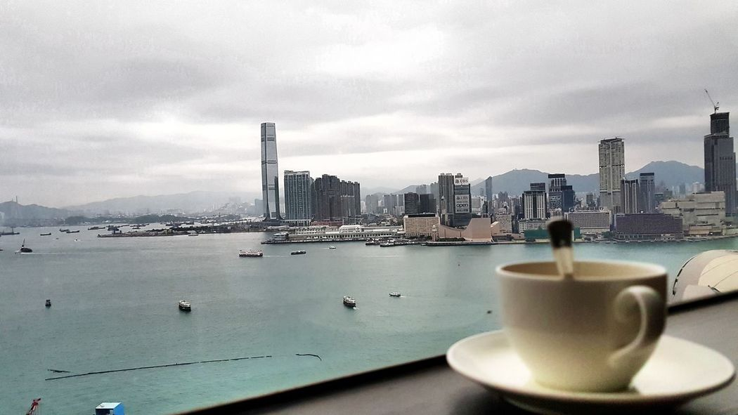 It's coffee time Morning Coffee Cityscape Cup Samsung Galaxy S7 Edge No People Outd Coffee Cup HongKong Hyatt Hotel Cityscapes City View  Lazy Day Places To Visit Relax No People, Outdoors Cappuccino Black Coffee Coffee Coffee - Drink Office Building