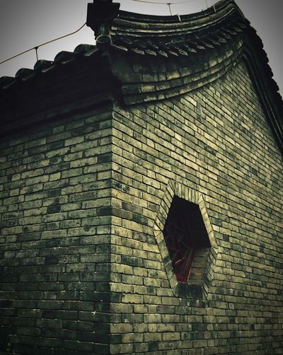 Chinese Architecture Architectural Detail Eaves Rooftop Ancestral Temple