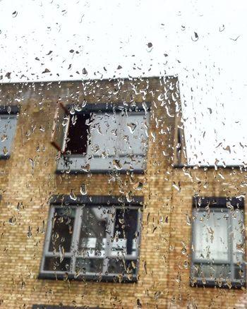 Good morning Dublin Window House Drop No People rain