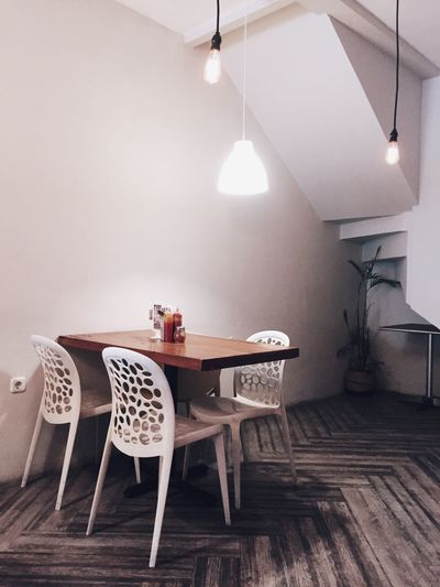 Waiting become waited. Table Chair Indoors  Lighting Equipment No People Home Interior Illuminated Home Showcase Interior Floor Lamp Side Table Technology Day Photography Photooftheday