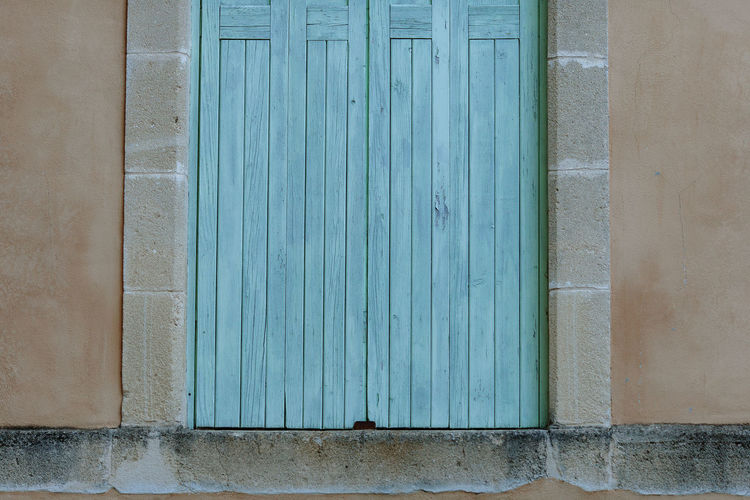 Architecture Built Structure Building Exterior Wall - Building Feature Closed Day Wood - Material House Protection Building Window Blue Security Entrance Door Safety Pattern No People Outdoors Old Turquoise Colored Frame France Provence France 🇫🇷 Travel Traveling Framed
