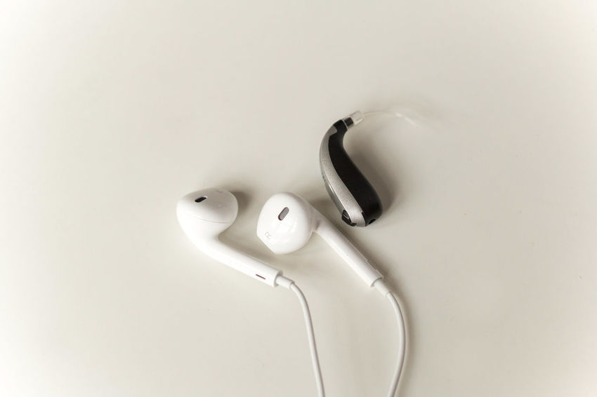 Indoors  Still Life White Color Technology Hygiene White Background Design Hearing Aid Hearing Aid Test Audiology Audiologist Noise Induced Earphones Ear Listening Music Decibel Sound Level Loss Deaf Hearing Loss