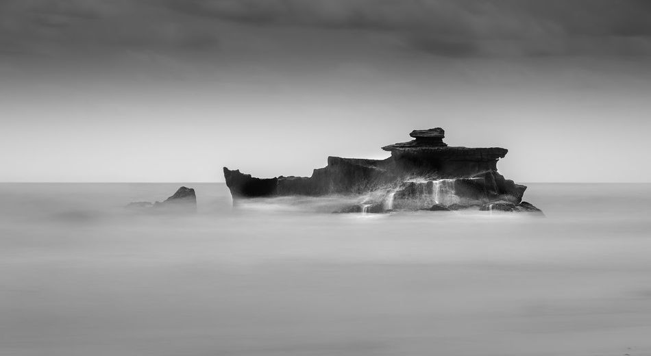 Rocks & Splash Sky No People Nature Scenics - Nature Water Beauty In Nature Motion Long Exposure Day Tranquil Scene Tranquility Sea Fog Land Travel Destinations Non-urban Scene Travel Outdoors Rock - Object Rock Blackandwhite Black And White Black & White