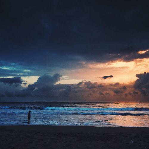 Sunset Sky Silhouette Landscape Beach IPhoneography Vscocam VSCO