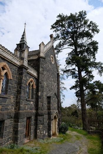 Shot at Montsalvat, Eltham. Architecture Building Exterior Built Structure Cloud - Sky Day History Low Angle View Nature No People Outdoors Place Of Worship Religion Sky Spirituality Tree