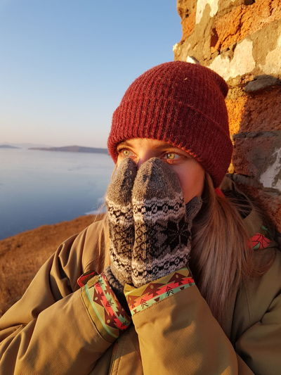 Women Winter Exploring One Person Adult Mid Adult Day People Leisure Activity Beach Headshot Outdoors Sky Portrait Water Nature Close-up Tranquility Sea Scarf Shades Of Winter EyeEmNewHere Love Yourself Go Higher