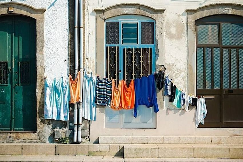 Porto Portugal Doors Color Colors Clothes Hanging Clothes Sun The Street Photographer - 2016 EyeEm Awards