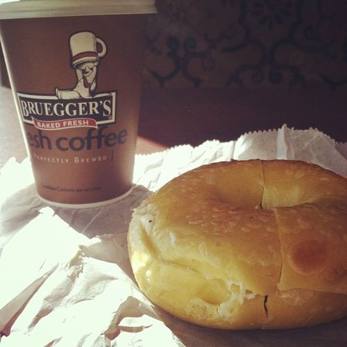 Nothing beats a Brueggers bagel!