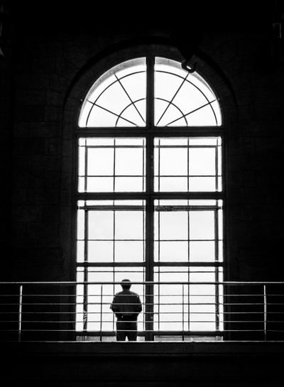 lonely view Architecture Architecture_collection Buenos Aires Contemplation Lonely Architecture Architecturelovers Blackandwhite Photography Bnw Bnw_collection Buenosaires Building Built Structure Contemplation Glass - Material Indoors  One Person Rear View Silhouette Silhouette_collection Silhoutte Photography Solitude Symmetry Window Windows The Photojournalist - 2018 EyeEm Awards The Architect - 2018 EyeEm Awards The Street Photographer - 2018 EyeEm Awards