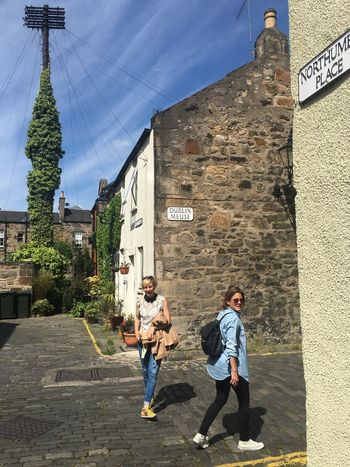 Uk Summer Uk Lane Edinburgh Built Structure Architecture Building Exterior Real People Full Length Lifestyles Women Two People Leisure Activity