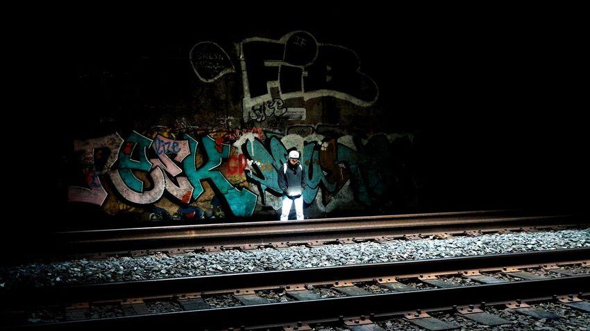 Enlightened: paikura © NYC EyeEm Best Shots Streetphotography AMPt_community Eye4photography  Train Tracks Sunlight Graffiti The Photojournalist - 2016 EyeEm Awards Light And Shadow Market Reviewers' Top Picks Feel The Journey On The Way TakeoverContrast