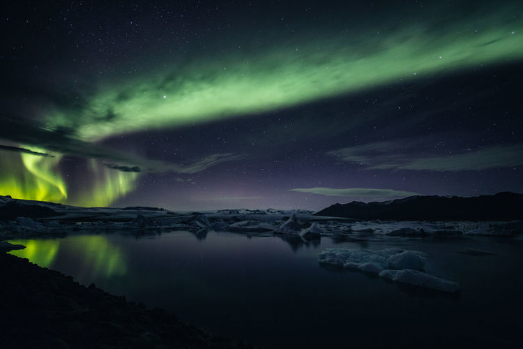 Night Scenics - Nature Beauty In Nature Sky Water Astronomy Star - Space Tranquil Scene Space Tranquility Star Aurora Polaris Galaxy Idyllic Nature No People Star Field Lake Long Exposure Milky Way Space And Astronomy Iceland