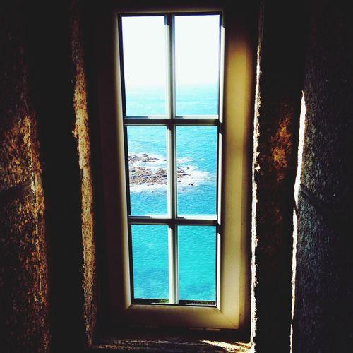 Window Lighthouse Sea Normandy