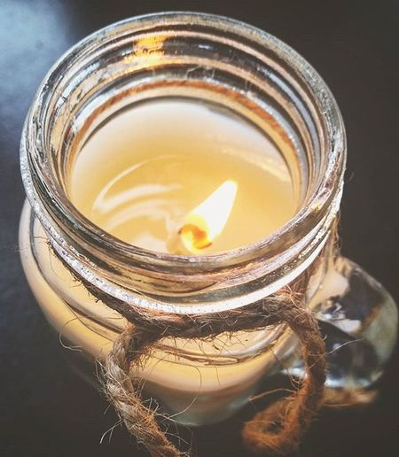 Working by candlelight 🔥 Candle Candlelight Jar Glass Work Warm Light Pretty Flame Vintage Cosy Relax Lovecandles