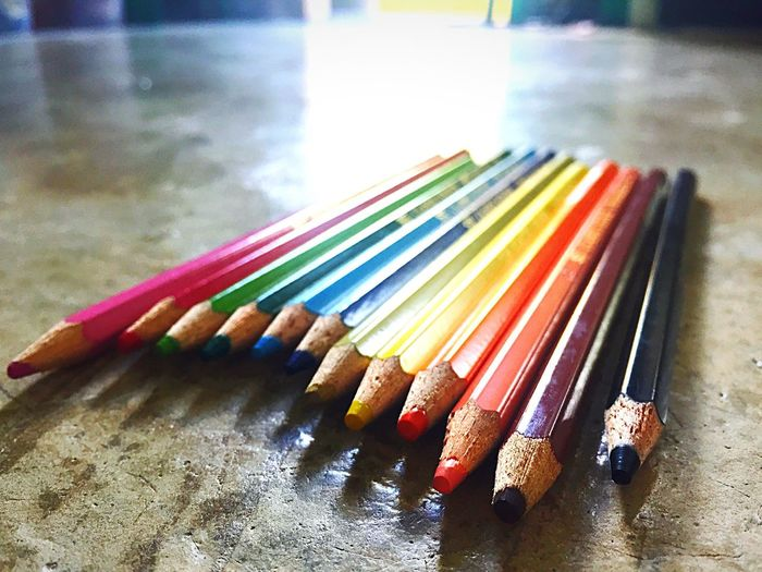 Colors Colored Pencil Multi Colored Close-up Pencil Variation Indoors  Wood - Material Choice