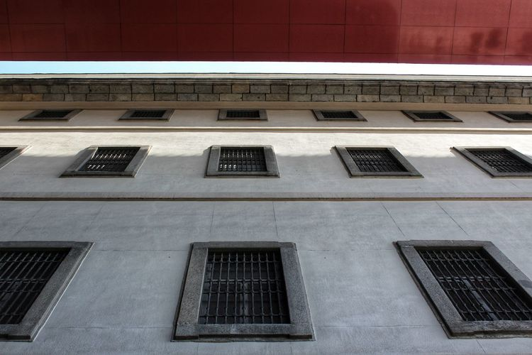 Museum Museo Reina Sofia Architecture Metal Grate Building Exterior Historic Residential Structure Residential