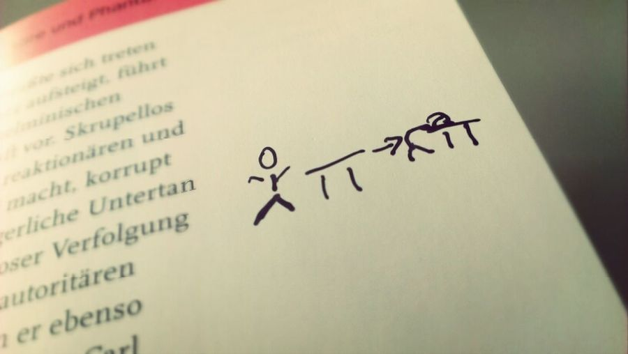 Manchmal finde ich aussagekräftige Zeichnungen in meinen Büchern.