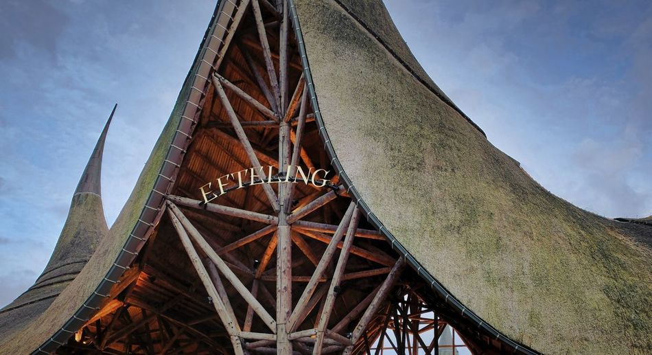 Attraction theme park the Efteling, Kaatsheuvel, the Netherlands Built Structure Architecture Sky Low Angle View Nature No People Metal Day Transportation Bridge Cloud - Sky Outdoors Connection Old Bridge - Man Made Structure Rusty Tower Wood - Material Building Exterior Wheel