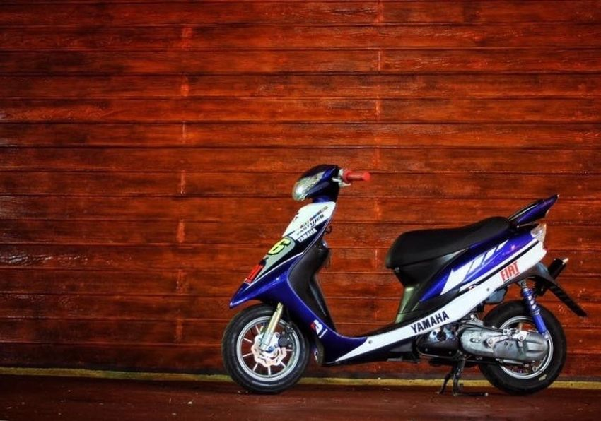 Thailand Hamtaro_racing Scooter_thailand Scootet_racing 2t_racing Yahama Jog Zr_evo Stationary No People Outdoors Day