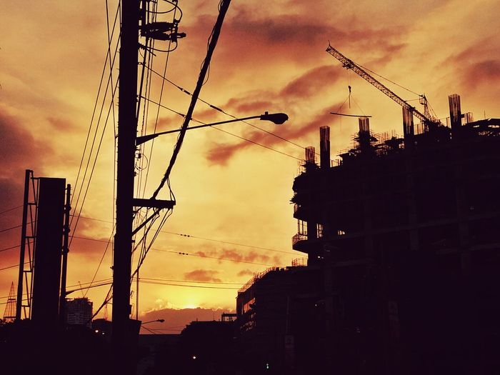 Urban sunset, ortigas center,Philippines Sunset Silhouette Dramatic Sky Sky Cloud - Sky Scenics Dramatic Sky Built Structure Sky And City Cityscape