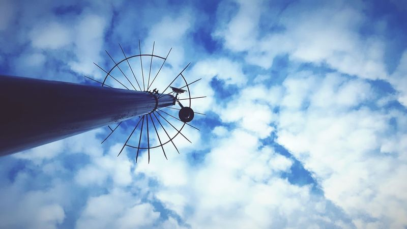 This Is Perspective day 12. Looking Up Perspective Birds Eye View Looking Down At Me Surveillance Camera Blue Sky Clouds And Sky
