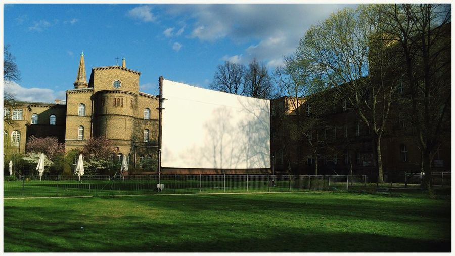 Lerone-frames White Squares Projection Tree And Sky Trees Cinema Cinematic Empty Places The Empty Center Urban Landscape