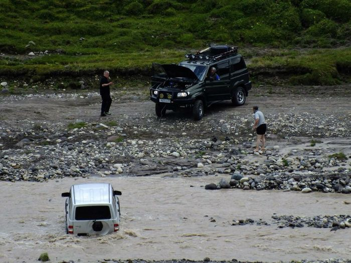Переправа через малку. River