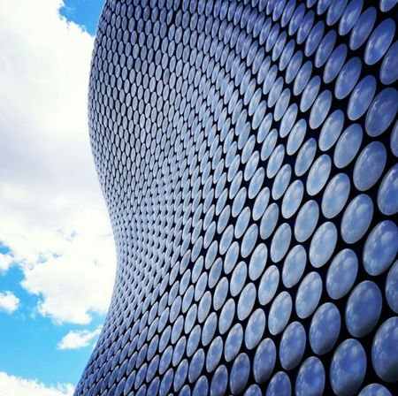 Architecture Building Exterior City Sky Pattern Birmingham UK Blue Sky Shop Selfridgesbirmingham Selfridges_Building
