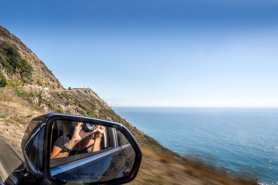 Highway 1 Adult Beauty In Nature Car Day Headshot Horizon Over Water Landscape Mid Adult Nature One Person One Woman Only Only Women Outdoors Road Road Trip Scenics Sea Side-view Mirror Sky Sunglasses Transportation Travel Vacations Young Adult Summer Exploratorium The Great Outdoors - 2018 EyeEm Awards
