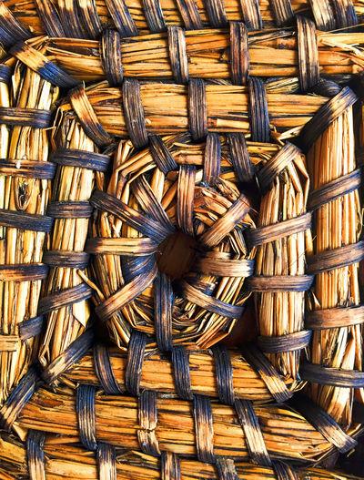 Full Frame Shot Of Wicker Mat