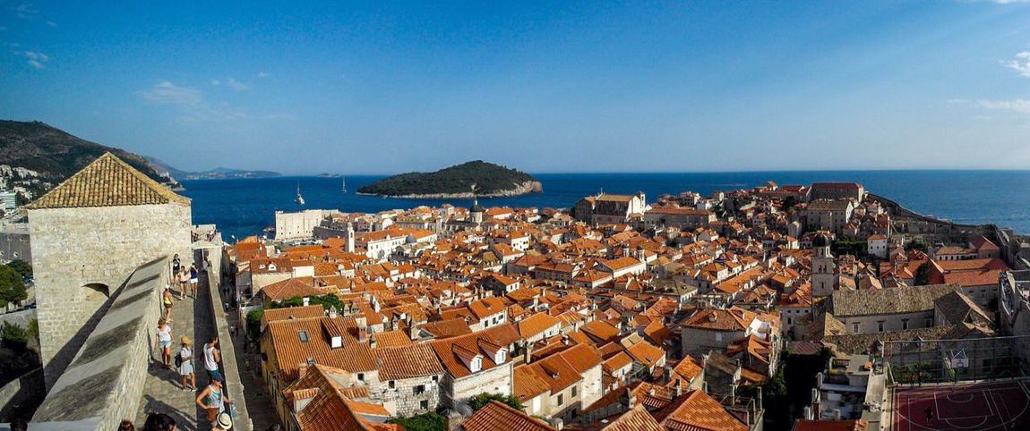 EyeEm Selects Architecture Building Exterior Sea Built Structure Residential District Town Horizon Over Water House Roof Blue Crowded High Angle View Residential Building Cityscape Water Day Sky Outdoors Community City Dubrovnik - Croatia❤ Dubrovnik Old Town Dubrovnik, Croatia Dubrovnik