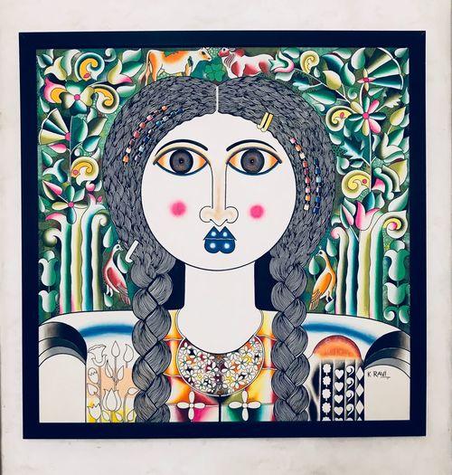 Expand your mind Female Beauty Trippy Art Art Representation Human Representation Art And Craft Creativity Pattern Design