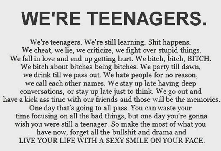 We are teenagers and we make troubles...this is our pleasure ! ??????