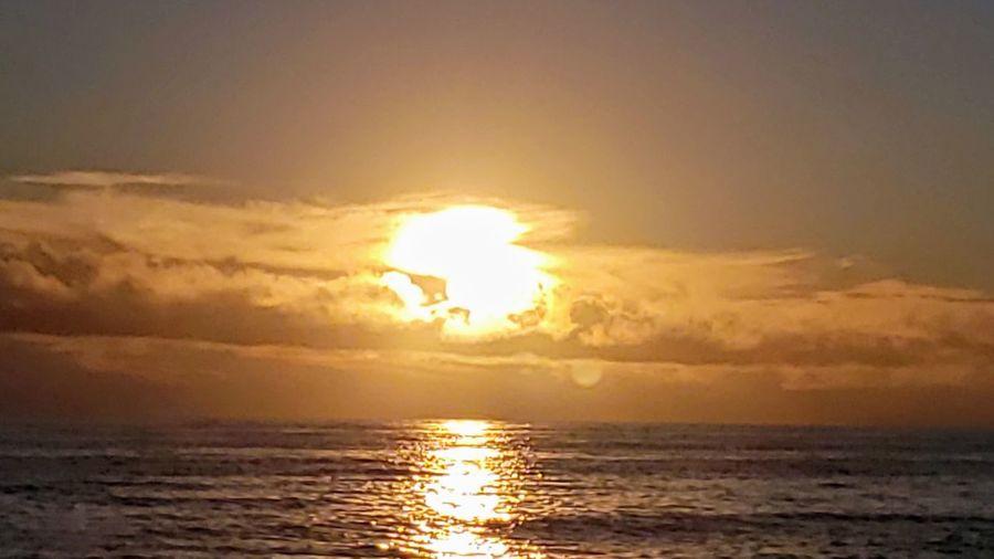 Water Sea Sunset Beach Horizon Sunlight Gold Colored Sun Spirituality Reflection Tide Romantic Sky Surf Low Tide Atmospheric Mood