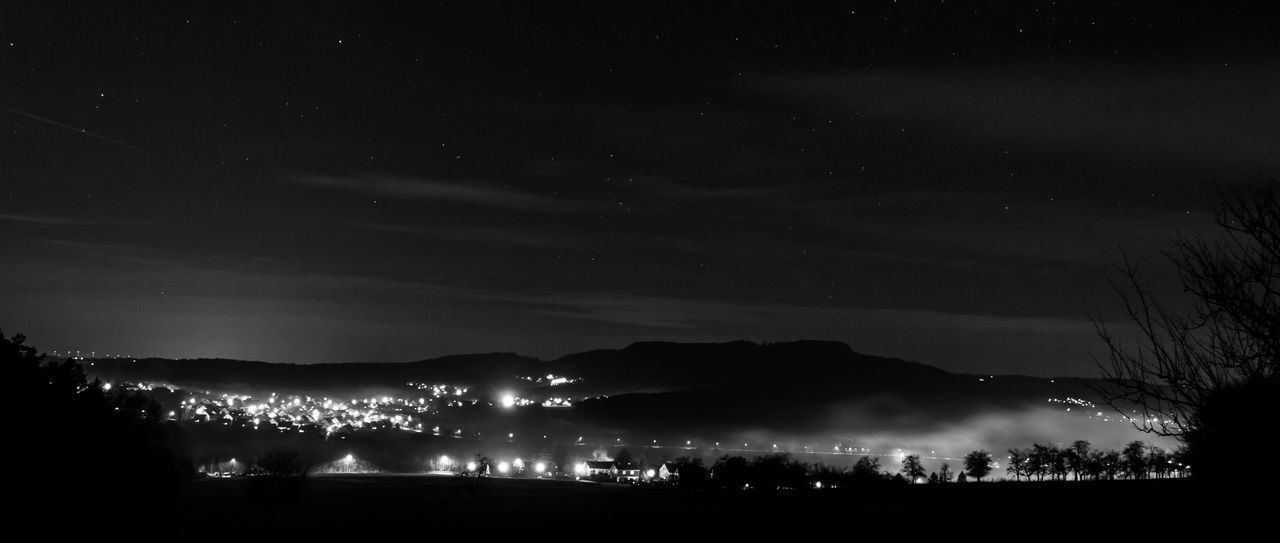 Night Sky Illuminated Space And Astronomy Outdoors No People Star - Space Scenics Nightphotography Igensdorf Astronomy Night Lights Fog