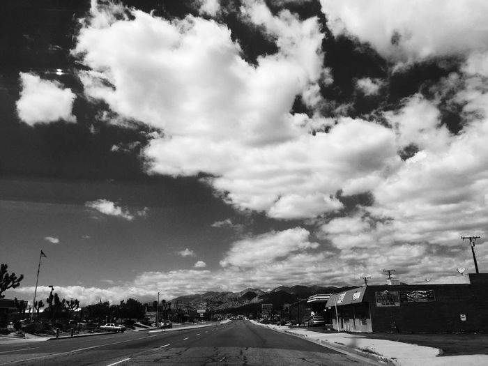 Shooting from the passenger seat Clouds And Sky Other Desert Cities From The Car Window Blackandwhite On The Road Showcase April